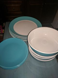 Turquoise dishes