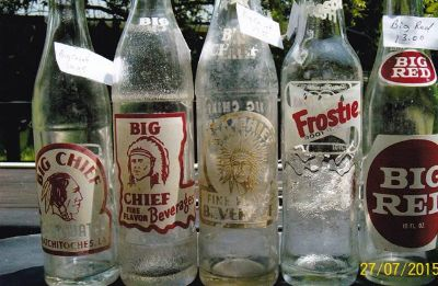 $10, Antique Soda Bottles