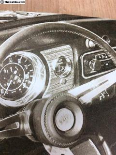 Original vintage EMPI Gauge dash plate w/light