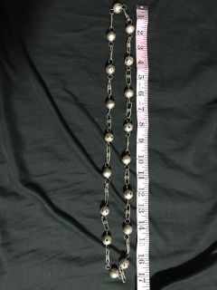 Metal Bead and Chain Necklace 17