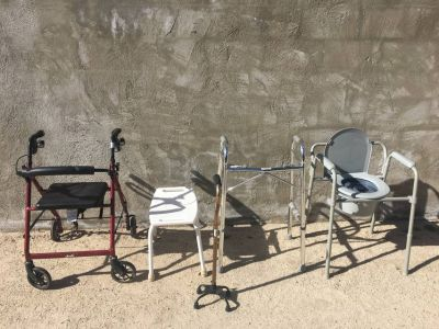 Handicapped Items: Walker, Shower Chair, Portable Toilet