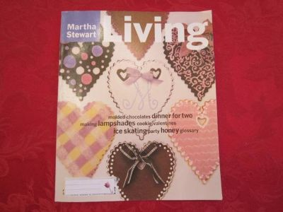 Early 1996 MARTHA STEWART Living Magazine, Feb. Valentine Back Issue