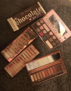 urban decay naked heat & too faced chocolate bon bons