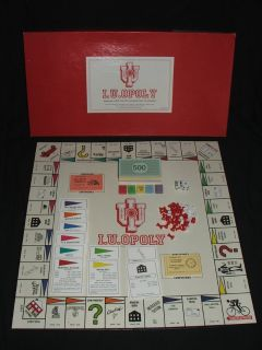 I.U.OPOLY Indiana University Monopoly Board Game