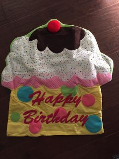 Birthday Fabric Chair Cover - Brand New!