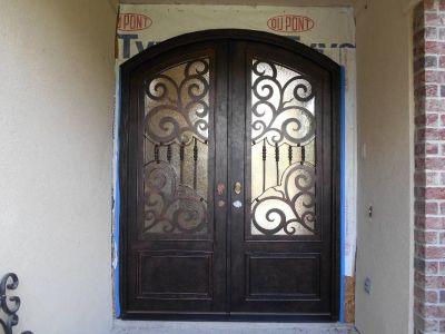 Iron Door Eyebrown Style