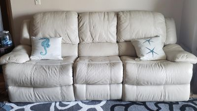 Reclining Leather Couch & Love Seat