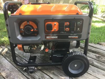 Generac RS7000E Portable Generator With Electric Starter