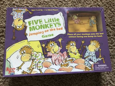 Board game (Five Little Monkeys jumping on the bed)