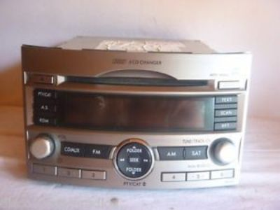 Sell 12-14 Subaru Legacy Outback Radio 6 Disc Cd MP3 PE605U6 86201AJ60A CP42707 CP motorcycle in Williamson, Georgia, United States