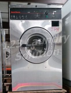 Fair Condition Speed Queen Front Load Washer Coin Op 20LB 3PH 220V SCN020GC2OU1001 Used