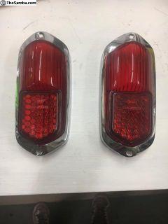 Low light Karmann Ghia tail lights