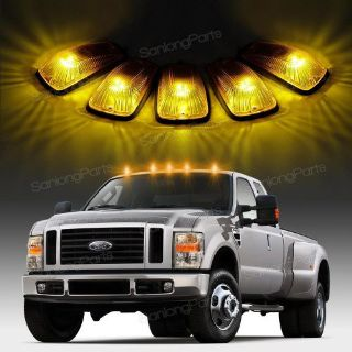 Find 5x HOT For 88-02 Chevy/GMC Amber Cover Cab Marker Light+White 5050 158 LED motorcycle in Milpitas, California, United States