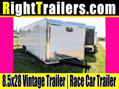 8.5x28 Vintage Outlaw   Race Car Trailer