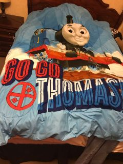 Thomas the train reversible twin size comforter and sheet set.
