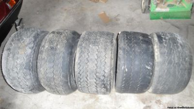 5 Used Golf Cart Tires with Rims