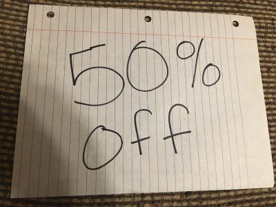 !!!!It s time Again!!!!! 50% Off of everything!!!