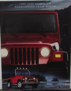 Purchase 1999 Jeep Wrangler MOPAR Accessories Sales Brochure Color Catalog Dealer Item motorcycle in Holts Summit, Missouri, United States, for US $11.99
