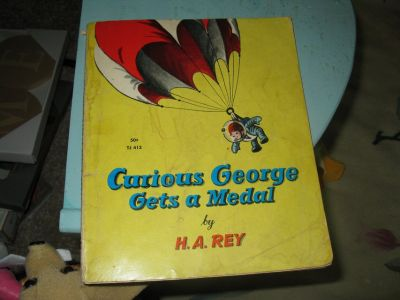 "Curious George Book -""Gets a Medal"""