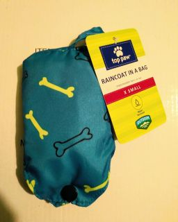 Pet Raincoat In A Bag with Clip. New Size XS. Retails for $9.99