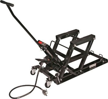 Find NEW BLACK WIDOW AIR-FOOT MOTORCYCLE-ATV JACK LIFT-1500# HOIST STAND (BW-0102) motorcycle in West Bend, Wisconsin, US, for US $184.99