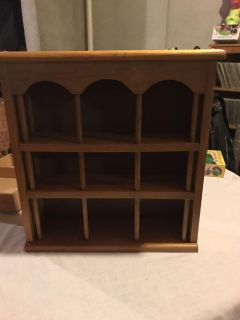 Solid wooden curio shelve. Hand man, real wood and 18 1/2x 20x 6