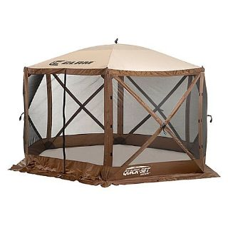 Clam Outdoors Quick-Set Escape 6-Sided Screen Shelter in Brown