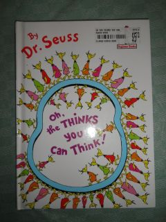 DR SEUSS ''OH, THE THINKS YOU CAN THINK'' HARDCOVER