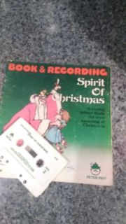 Christmas book and cassette