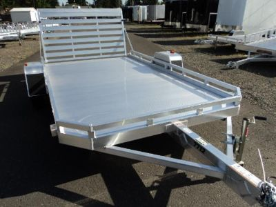 Aluma 7x12 Aluminum Trailer w/Bi-fold Ramp