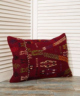 red pillowcase, throw pillows, embroidered pillow