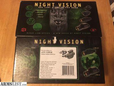 For Sale: ATN Viper night vision goggles
