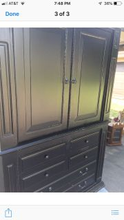 Armoire with TV stand inside