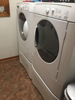 Electric Washer and Dryer with Storage Bins