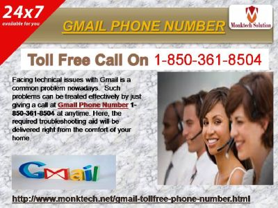 Why's Gmail Phone Number helping 1-850-361-8504?