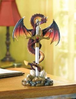 $19.95 Sword And Dragon Stone Display