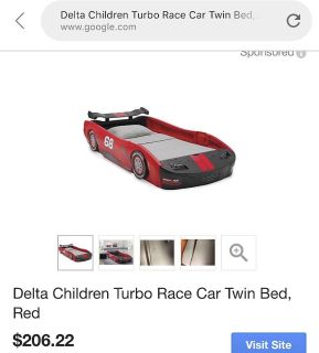 Twin size race care bed