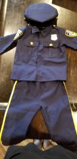 Toddler size 3/4 Police costume
