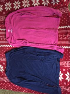 Girls long sleeve tops size Large