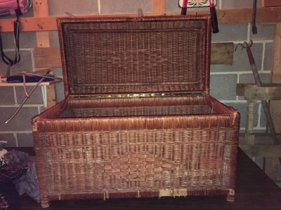 Wicker chest. Excellent condition.
