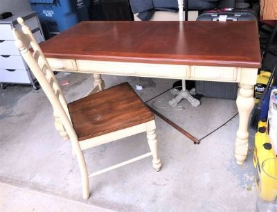Desk with Chair - Pull Out Tray