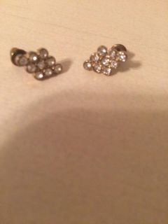 Gold rhinestone earrings all items are Buy1get2FREE