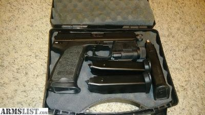 For Sale: Hk Tactical USP 45+4 mags+HK light...mint condition