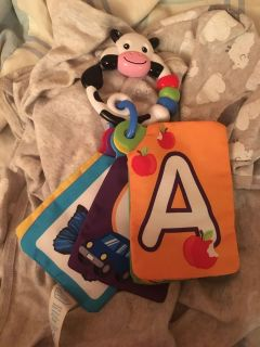 Cow Book Stroller/Car Seat Toy