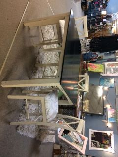 Farmhouse Dining Table w/3 chairs