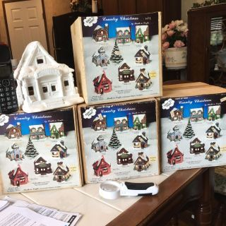 Paint your own Christmas village