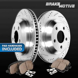 Buy [REAR] PERFORMANCE CROSS DRILLED & SLOTTED BRAKE ROTORS AND CERAMIC PADS M641500 motorcycle in Chicago, Illinois, US, for US $133.62