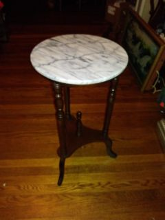 Vintage small marble table