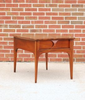 Kent Coffey Perspecia end table Walnut +Rosewood