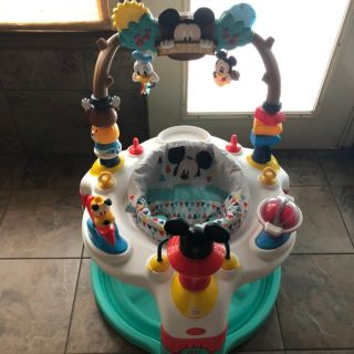Bright Starts Mickey Mouse Camping With Friends Exersaucer